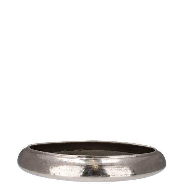 Aluminiumschale Silvio Länge 52 cm Silber